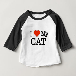 I Love My Cat Baby T-Shirt