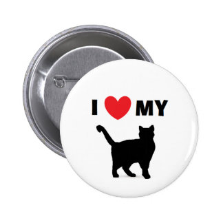 """I Love My Cat"" Button"