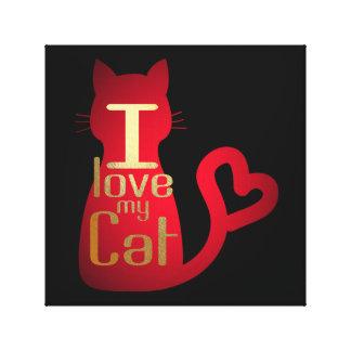 I LOVE MY CAT CANVAS ART!