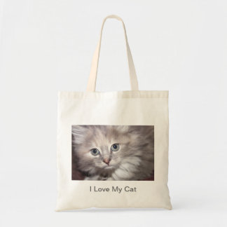 I Love My Cat canvas bag