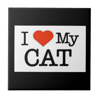 I Love My Cat Ceramic Tiles