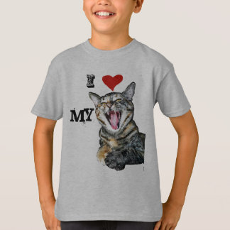 I Love My Cat Customizable Template T-Shirt