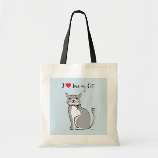 I love my Cat, Cute Graphic, Tote Bag