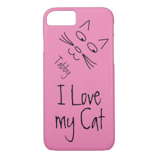 I Love My Cat iPhone 8/7 Case