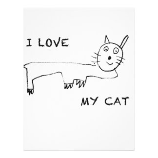 I Love My Cat Letterhead Template