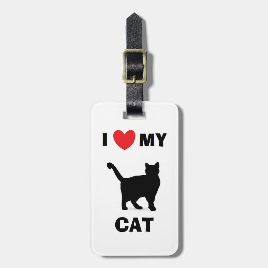 """I Love My Cat!"" Luggage Tag"