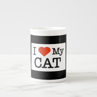 I Love My Cat Tea Cup