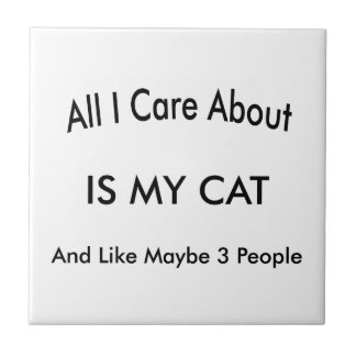 I Love My Cat Tile