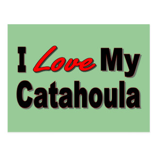 I Love My Catahoula Dog Merchandise Postcard