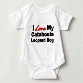 I Love My Catahoula Leopard Dog Merchandise Baby Bodysuit