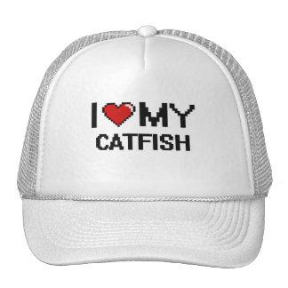 I Love My Catfish Digital design Trucker Hat