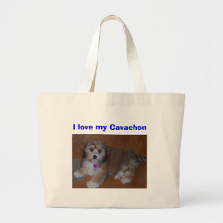 I love my Cavachon Large Tote Bag