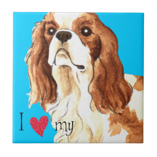I Love my Cavalier Ceramic Tile