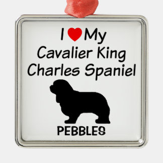 I Love My Cavalier King Charles Spaniel Dog Metal Ornament