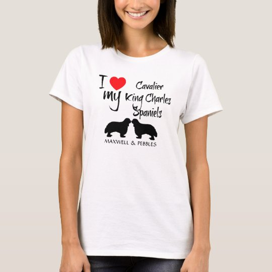 I Love My Cavalier King Charles Spaniel Dogs T-Shirt