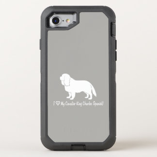 I Love My Cavalier King Charles Spaniel! OtterBox Defender iPhone 8/7 Case