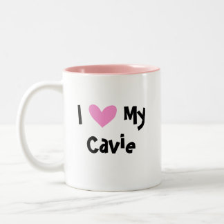 I Love My Cavalier King Charles Spaniel Two-Tone Coffee Mug