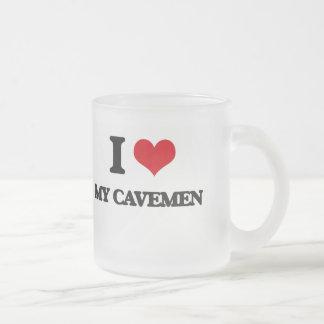 I love My Cavemen Frosted Glass Mug