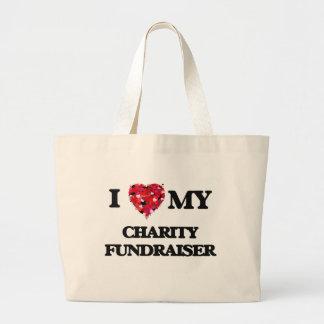 I love my Charity Fundraiser Jumbo Tote Bag