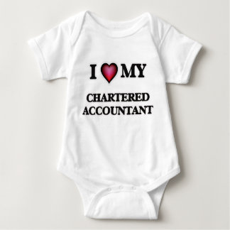 I love my Chartered Accountant Baby Bodysuit