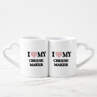 I love my Cheese Maker (Heart Made from Words) Couples Mug