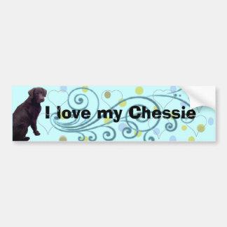 I love my Chesapeake Bay... - Customized Bumper Sticker