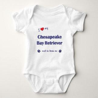 I Love My Chesapeake Bay Retriever (Male Dog) Baby Bodysuit