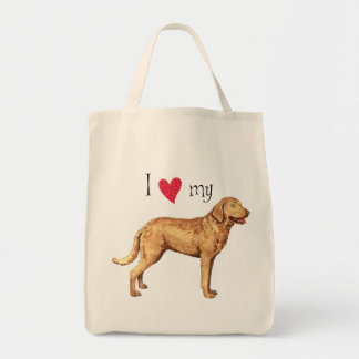 I Love my Chesapeake Bay Retriever Tote Bag