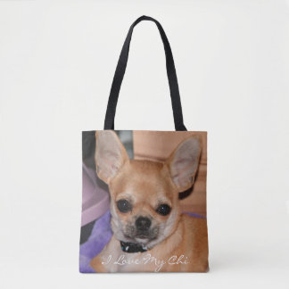 I Love My Chi Chihuahua Photo All Over Print Bags