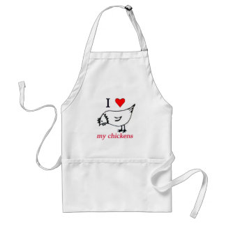 I Love my chickens Standard Apron