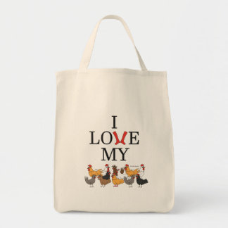 I Love My Chickens Tote Bag