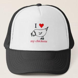 I Love my chickens Trucker Hat