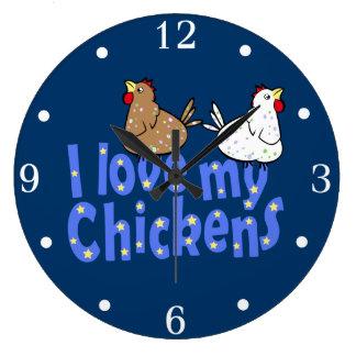 I Love my Chickens Wall Clock