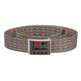 I Love My chihuahua Belt