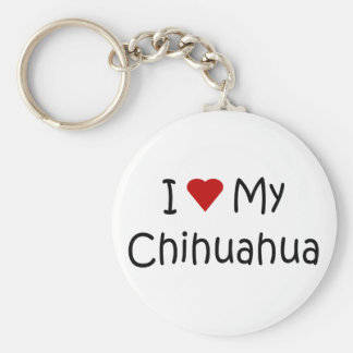 I Love My Chihuahua Dog Breed Lover Gifts Basic Round Button Keychain