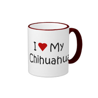 I Love My Chihuahua Dog Breed Lover Gifts Ringer Coffee Mug