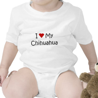 I Love My Chihuahua Dog Breed Lover Gifts Baby Bodysuit
