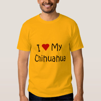 I Love My Chihuahua Dog Breed Lover Gifts Tshirt