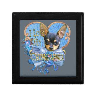 I Love My Chihuahua in Blue Heart Gift Box