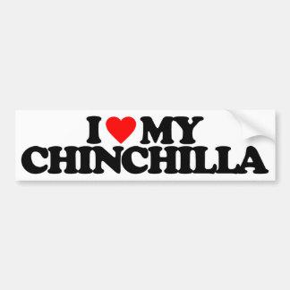 I LOVE MY CHINCHILLA BUMPER STICKER