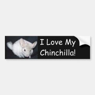 I love my chinchillah bumper sticker