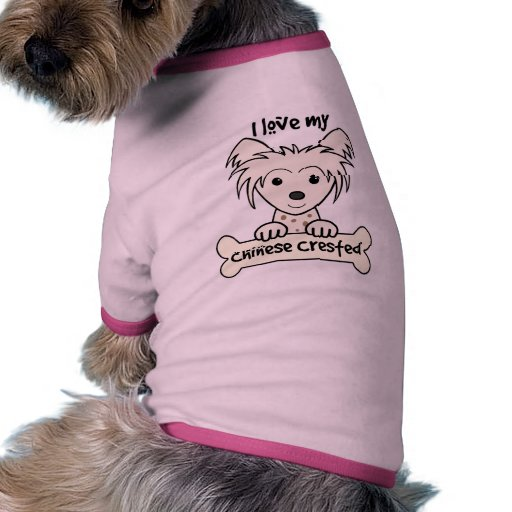 I Love My Chinese Crested Doggie T-shirt