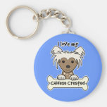 I Love My Chinese Crested Keychains