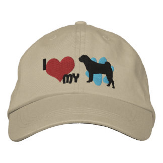 I Love my Chinese Shar Pei Embroidered Hat