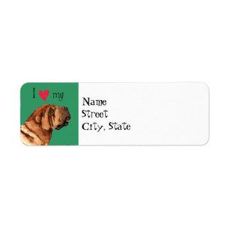 I Love my Chinese Shar-Pei Return Address Label