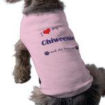 I Love My Chiweenie (Female Dog) Pet Tee