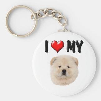 I Love My Chow Chow Basic Round Button Keychain