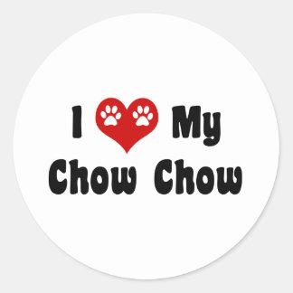 I Love My Chow Chow Classic Round Sticker