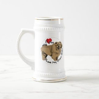 I Love My Chow Chow Dog Beer Stein
