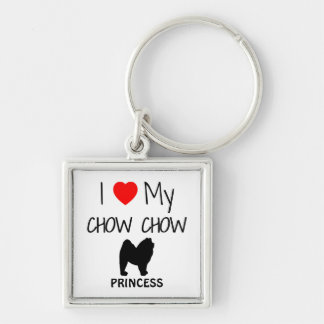 I Love My Chow Chow Dog Keychain